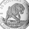 Канада 20 долларов 2015 Саблезубый тигр